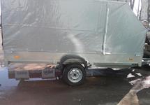 Одноосный прицеп к легковому автомобилю  ССТ-7132-09 для снегохода и квадроцикла